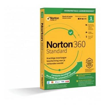 Norton 360 STANDARD 1jr. (no subscr) 1 device RETAIL
